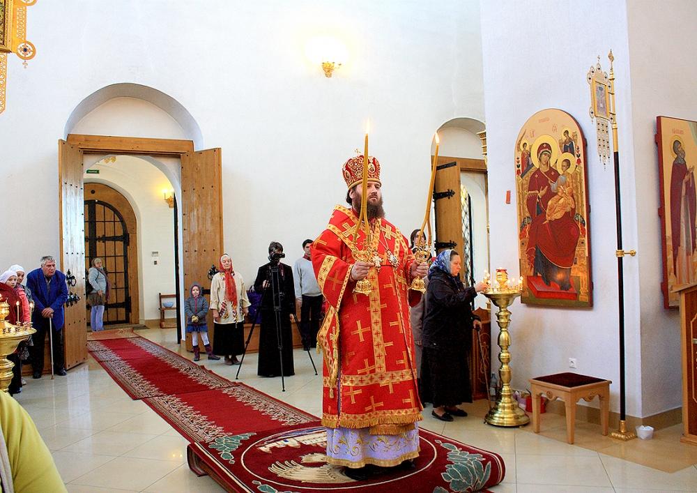 Предстоятель украинской православной церкви блаженнейший митрополит киевский и всея украины владимир в своей